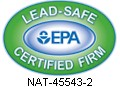 Certified by the EPA to be a Lead-Safe Certified Firm - Certification #NAT-45543-1